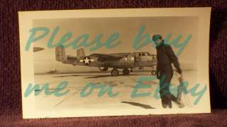 1950s 60s Vintage Plane Photo V774 NORTH AMERICAN B 25