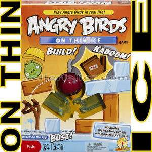 Angry Birds ON THIN ICE Game by Mattel NewTop Toy   VHTF
