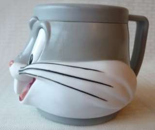PLASTIC COFFEE MUG Looney Tunes Bugs Bunny 1992 Rabbit