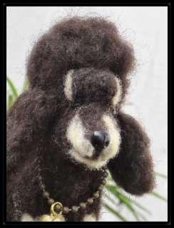 OOAK Needle Felted Black & Tan Phantom Poodle Dog Laigle by Bren