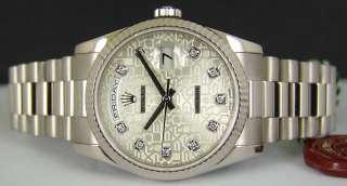 ROLEX   Mens White Gold DIAMOND President   118239
