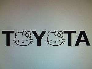 Hello Kitty decal sticker toyota