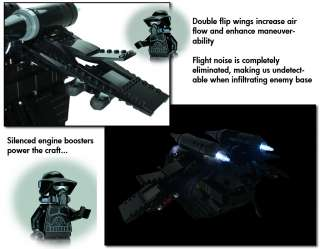 INSTRUCTIONS ONLY Custom Black OPs Gunship Lego Star War 7676 Republic