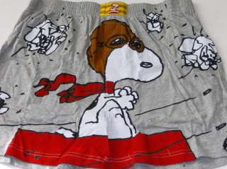 Mens Snoopy Dog Boxers Sm Peanuts Boxer Shorts in Tin