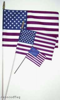 12 x 18 US American Stick Flag with Spearheads(144)