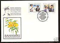 BAHAMAS PRINCESS DIANA ROYAL WEDDING FIRST DAY COVER