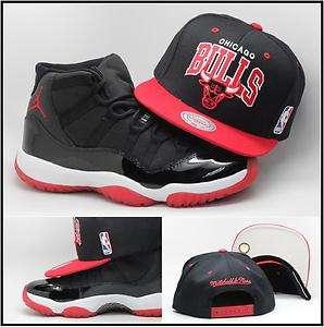 Mitchell & Ness Chicago Bulls Snapback Hat To Match Air Jordan Retro