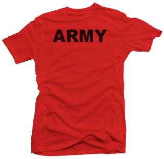 Classic ARMY Military US Mens PT Cool Gym New T shirt