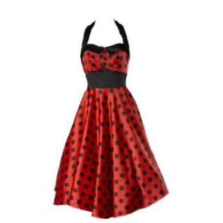 Hell Bunny 50er Jahre Party Kleid Vera Rot Punkte
