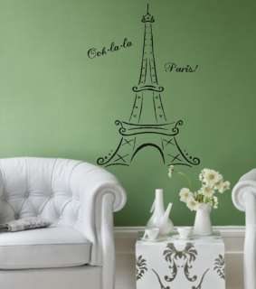 Eiffel Tower Ooh la la Vinyl Lettering Wall Decal art