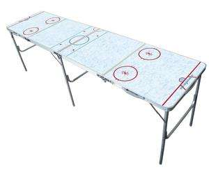 Rink Theme 2 x 8 Multi Purpose Folding Tailgate Party Beer Pong Table