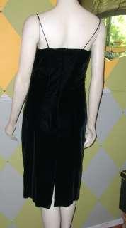 Vintage Black Velvet Wiggle Dress, Cocktail, Cachet,