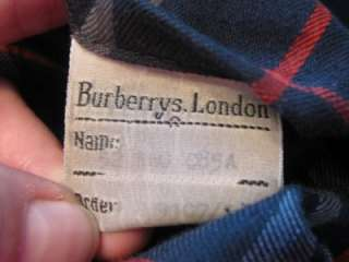 BURBERRY PRORSUM LONDON MANS BLUE NOVA CHECK LINED VTG TRENCH COAT MAC