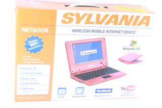 SYLVANIA SYNET07526 R 7 LCD RED LAPTOP NETBOOK
