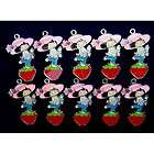 10 X Strawberry Shortcake Metal Figure Pendant Charms F