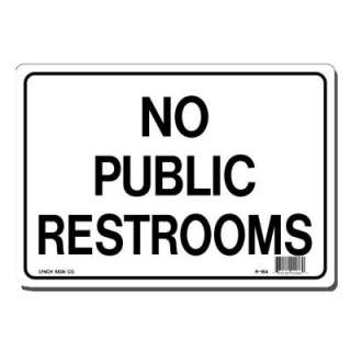 Lynch Sign Co. 10 In. X 7 In. Sign Black on White Plastic No Public