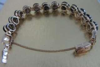 Vintage Gold Vermeil Sterling Silver Cabachon Bracelet