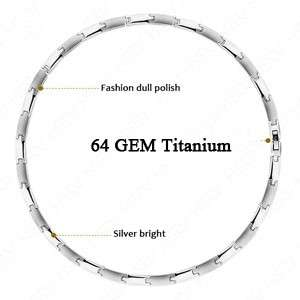 Germanium Titanium Steel Energy Necklace Power Balance for Men Women