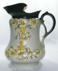 Antique Gibson & Sons Harvey Pottery Large Pitcher
