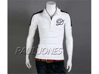 Smart TEE Mens New Fashion Short sleeve Polo Shirt T shirt Tops 4 Size
