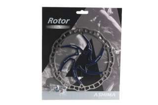 ASHIMA AIROTOR Disc Brake Rotor MTB Bike 160mm 6 w/ 6 Bolts Blue New