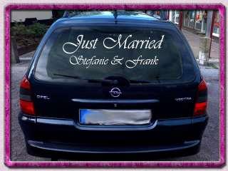 Just Married Schriftzug 1m