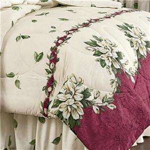 Southern Charm Magnolia Comforter Set Queen Size ~Free USA Shipping