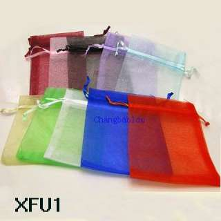 VARIOUS PURE COLOR WEDDING GIFT BAGS JEWELRY FAVOR ORGANZA POUCHES 3