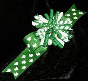 Competition Cheer Korker Layered Shamrock Hair Bow
