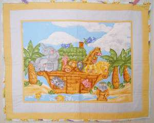Donna Dewberry Noah Ark Baby Handmade & Finished Quilt