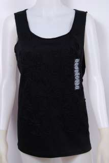 Brand New Jones New York Cotton Tank Top with Applique for Ladies in