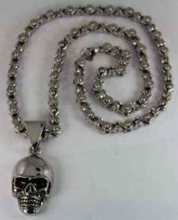Medium Skull Link Chain Stainless Steel Combo Harley Honda Yamaha