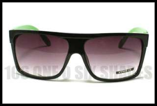 TOP Squared Retro Fashion Sunglasses Oversized Black GREEN Mob Style