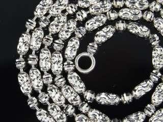WHITE GOLD DIAMOND CUT BEAD CHAIN 20 NECKLACE FRANCO