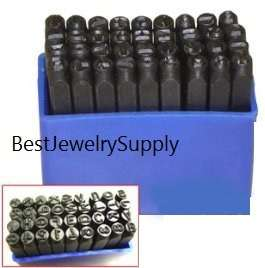 6MM 1/4 Steel Punch Stamp Die Set Metal 36 Pc Numbers & Letters in