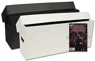 COMIC BOOK STORAGE BOX STRONG PLASTIC 270 LONG BLACK