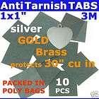 ANTI TARNISH PAPER TABS 1 10pcs 3M JEWELRY SILVER GOLD
