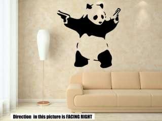 Ƹ̵̡Ӝ̵̨̄Ʒ Banksy Style Panda With Guns Art Wall Stickers