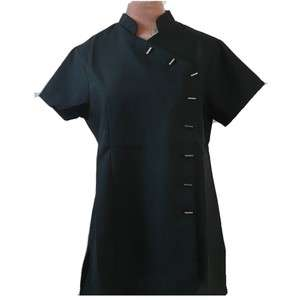Aurora Hair Beauty Salon Massage Spa Nail Technician BLACK Tunic Sizes
