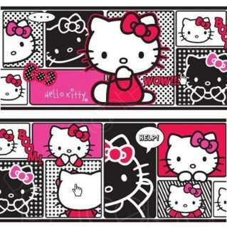 HELLO KITTY SELF ADHESIVE WALLPAPER BORDERS NEW SEALED OFFICIAL
