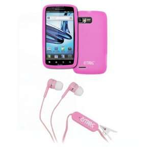 EMPIRE Motorola Atrix 2 Hot Pink Silicone Skin Case Cover