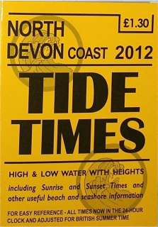 HOLIDAYMAKER PUBLICATIONS 2012 TIDE TIMES/TIME/TABLE HIGH & LOW WATER
