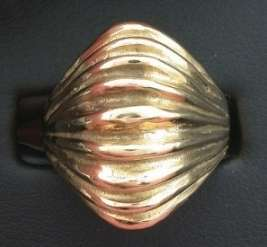 14Kt Heavy Casted Ladies High Dome Fashion Ring Gold Size 6