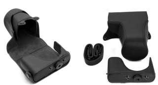 Nikon 1 J1 Camera Leather Case Bag Pouch w Strap 10 30mm 30 110mm lens