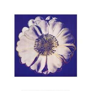 Flower for Tacoma Dome, c. 1982 (blue & white) by Andy Warhol 20x20