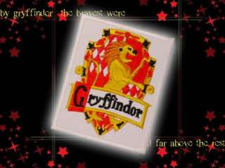 HARRY POTTER   House Crest GRYFFINDOR Embroidered Patch