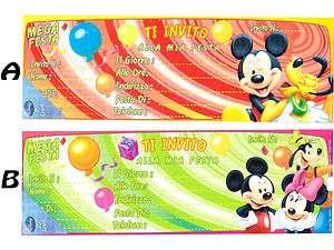 Inviti Compleanno Walt Disney x15 a scelta