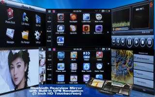 NAVIGATORE GPS INTEGRATO TELEFONO BLUETOOTH RETROVISORE HD 5