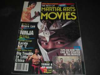 The Best Of Martial Arts Movies 1986 Magazine Bruce Lee