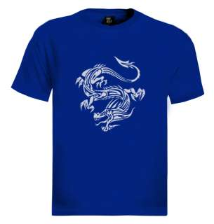 Chinese Vintage Dragon T Shirt unusual picture Japanese
